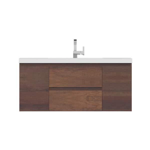D Wall Mount Bath Vanity, 48 X 19 Bathroom Vanity