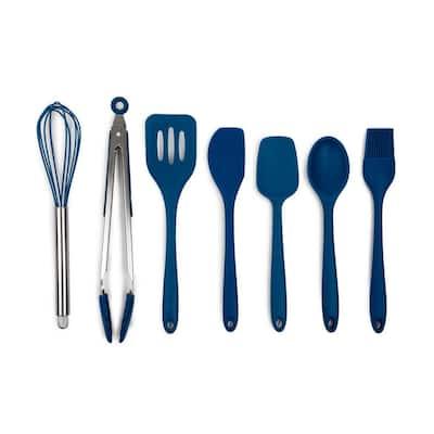 7-Piece Blue Lapis Basic Silicone Utensil Set