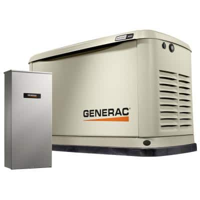 Guardian 16,000-Watt Air-Cooled Whole House Generator with Wi-Fi and 200-Amp Transfer Switch