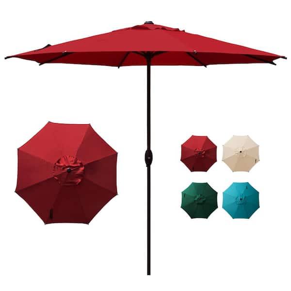 Abba Patio 9 Ft Outdoor Market, Red Patio Table Umbrella