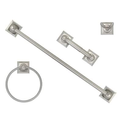 4-Piece Bath Hardware Set in Satin Nickel