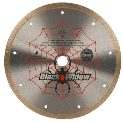 7 in. Black Widow Micro-Segmented Diamond Blade for Porcelain and Ceramic Tile