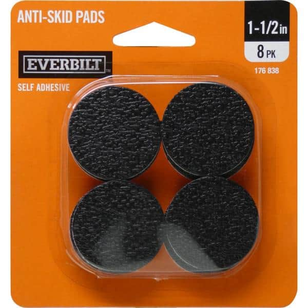 Self Adhesive Anti Skid Surface Pads 8, Rubber Feet For Furniture Home Depot