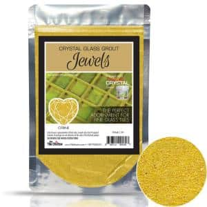 Crystal Glass Grout Jewels Citrine 75 grams (1-Pack)