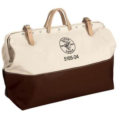 24 in. High-Bottom Canvas Tool Bag