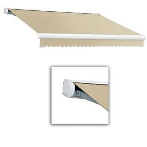 14 ft. Key West Full Cassette Right Motorized Retractable Awning (120 in. Projection) in Linen