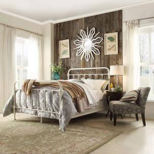 Calabria White Full Bed Frame