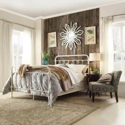 Calabria White Queen Bed Frame