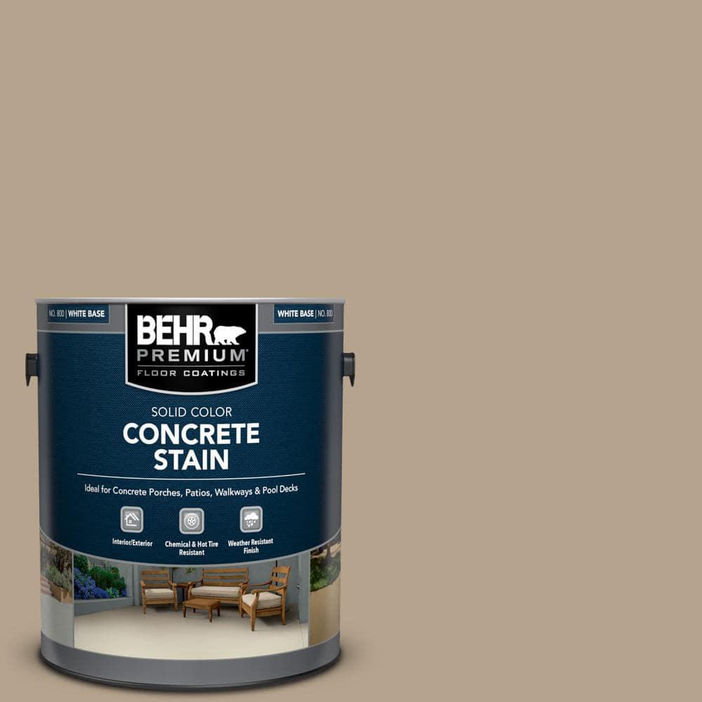 BEHR PREMIUM 1 gal. #PFC-33 Washed Khaki Solid Color Flat Interior/Exterior Concrete Stain