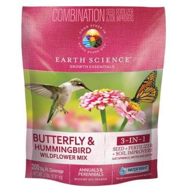 2 lbs. Butterfly and Hummingbird All-In-One Wild Flower Mix with Seed, Plant Food and Soil Conditioners