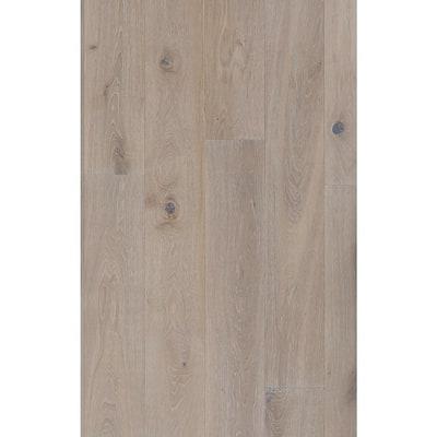 Take Home Sample - European White Oak Crystal Wirebrushed Engineered Hardwood Flooring - 5 in. x 7 in.