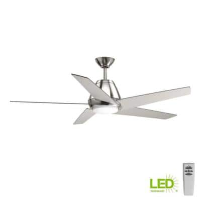 Gust Collection 54 in. LED Brushed Nickel Ceiling Fan