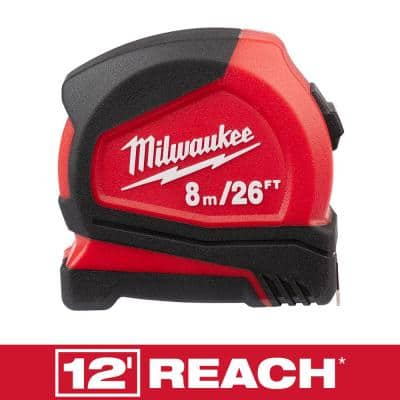 8 m/26 ft. Compact Tape Measure