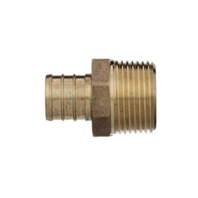 3/4 in. Barb x 3/4 in. MPT PEX Brass Male Adapter