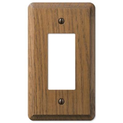Contemporary 1 Gang Rocker Wood Wall Plate - Medium Oak
