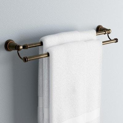 Banbury 24 in. Double Towel Bar in Mediterranean Bronze