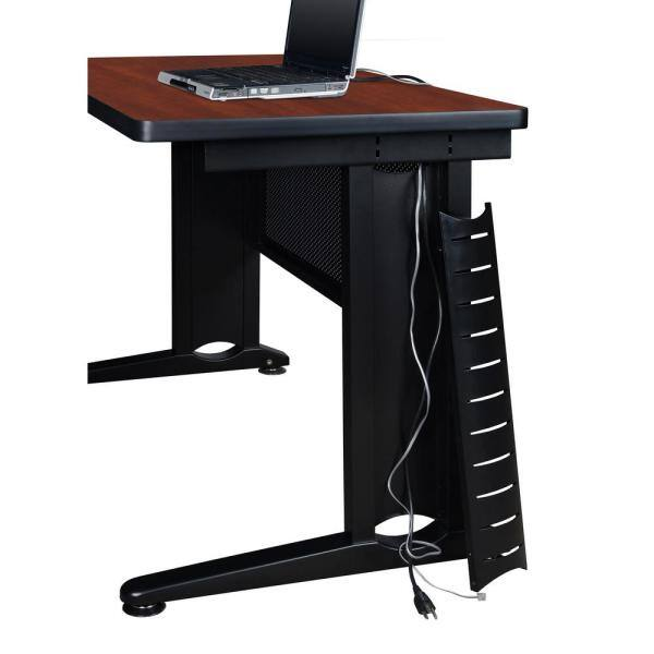 Regency Fusion Cherry 66 In U Desk Shell With 48 In Bridge Muds663048ch The Home Depot