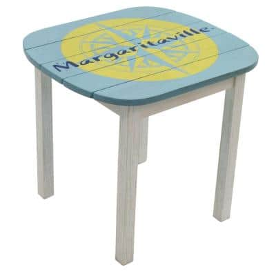 Fins to the Left Wood Outdoor Side Table