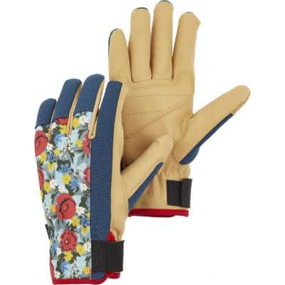DuraTan Flex Floral/Blue Size X-Small/6 Gloves