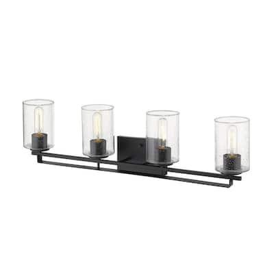 Orella 32-3/4 in. 4-Light Matte Black Vanity Light