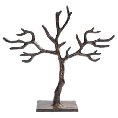 11 in. 20-Branch Patina Tree of Life Jewelry Holder