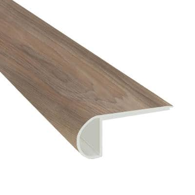 Almond Truffle 0.75 in. Thick x 2.33 in. Wide x 94 in. Length Luxury Vinyl Overlapping Stair Nose Molding