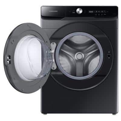 5.0 cu. ft. Extra-Large Brushed Black Front Load Washing Machine with Smart Dial and Super Speed, ENERGY STAR