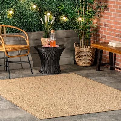 Chandler Elegant Beige 8 ft. x 10 ft. Indoor/Outdoor Area Rug