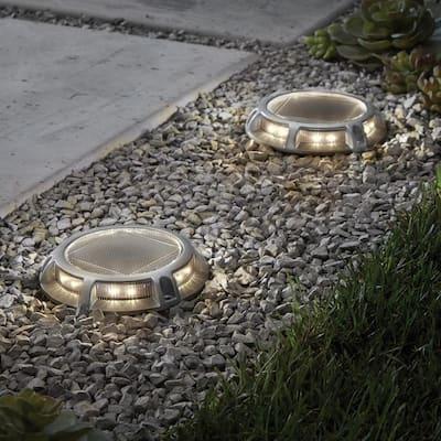 Solar Silver LED Path Light (4-Pack)