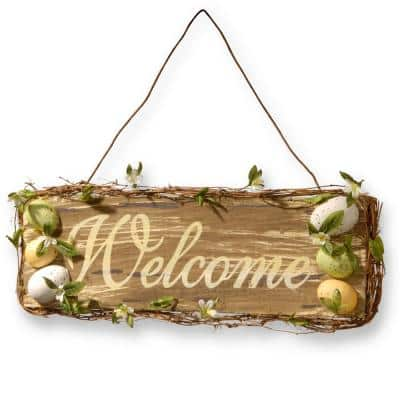 """21 in. Home Decor """"Welcome"""" Sign"""