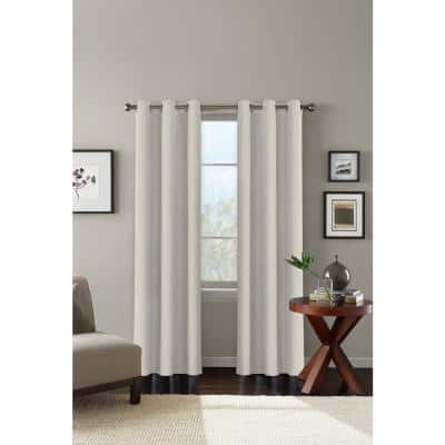 Almond-Milk Solid Grommet Blackout Curtain - 42 in. W x 84 in. L