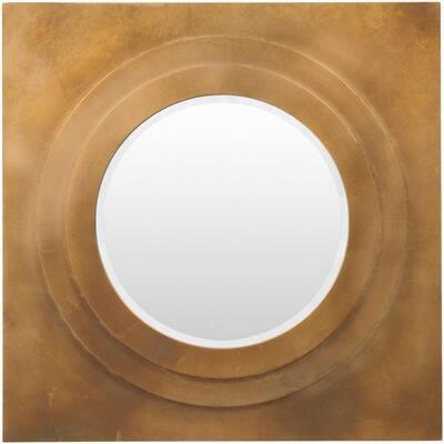 Medium Square Gold Mirror (30 in. H x 30 in. W)