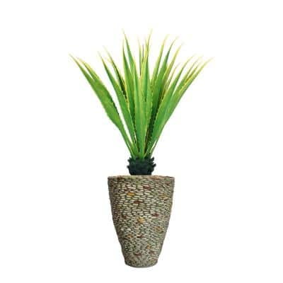 61.5 in. Real Touch Agave Plantin Resin Planter