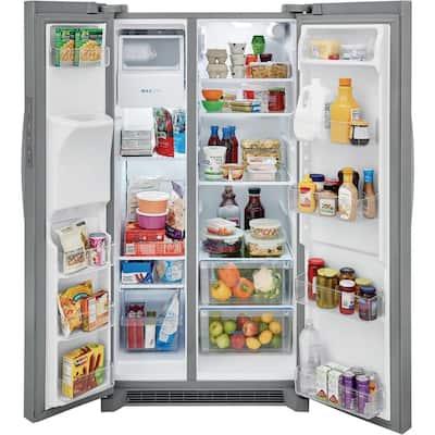 25.6 Cu.Ft. 36 in. Standard Depth Side by Side Refrigerator in Stainless Steel