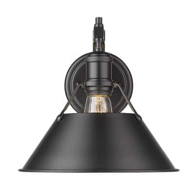Orwell 4.875 in. 1-Light Matte Black Sconce