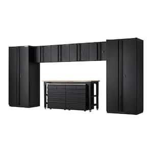 9-Piece Heavy Duty Welded Steel Garage Storage System in Black (184 in. W x 81 in. H x 24 in. D)