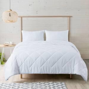 Gingham Embossed White Full/Queen Down Alternativecomforter