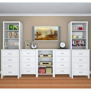 Impressions Deluxe Hutch 60 in. W - 120 in. W Wood Closet System