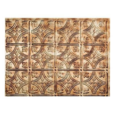 18 in. x 24 in. Traditional #1 Bermuda Bronze Vinyl Backsplash Panel (Pack of 5)