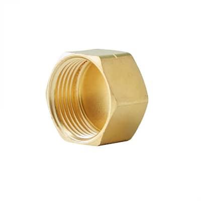 1/2 in. OD Compression Brass Cap Fitting