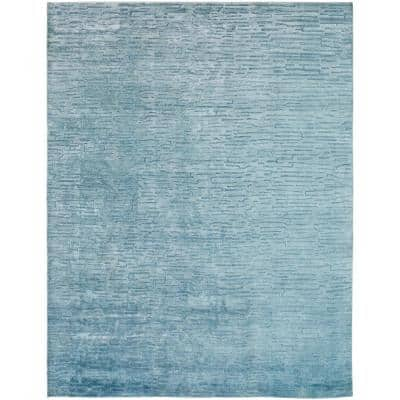 Aegean Blue 8 ft. 6 in. x 11 ft. 6 in. Area Rug