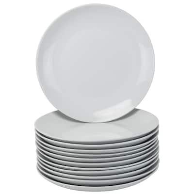 12-Piece Casual White Porcelain Dinnerware Set