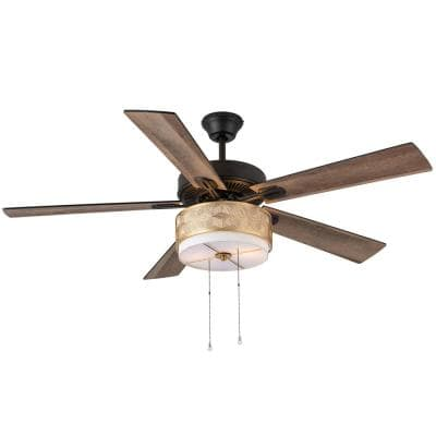 Triana Transitional 52 in. Indoor Oil Rubbed Bronze Ceiling Fan with Light Kit