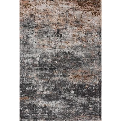 Gray Watercolor Area Rugs Rugs The Home Depot