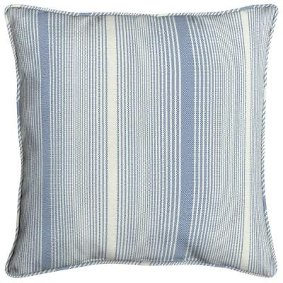 Acrylic 16 in. Cobalt Stripe Throw Pillow