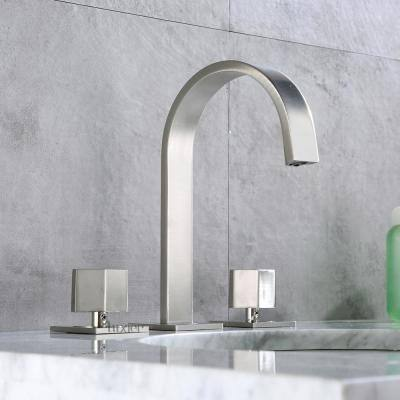 Widespread 2-Handle Contemporary Bathroom Vanity Sink Lavatory Faucet cUPC NSF AB 1953 Lead Free in Brushed Nickel