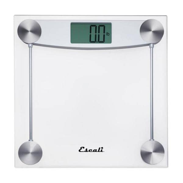 Escali Digital Clear Glass Bathroom Scale E184 The Home Depot