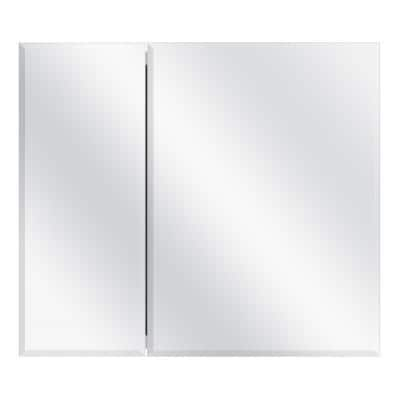 30 in. x 26 in. Frameless Recessed or Surface-Mount Bi-View Medicine Cabinet