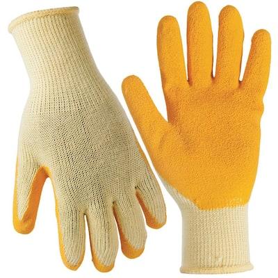 Medium General Purpose Latex Coated Gloves (10-Pair)