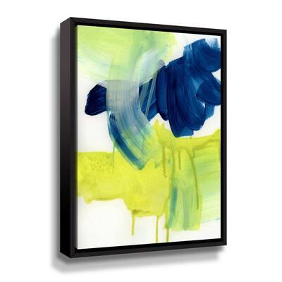 'Alla Prima 3' by  Iris Lehnhardt Framed Canvas Wall Art